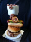 Corndog Hamburger Cake
