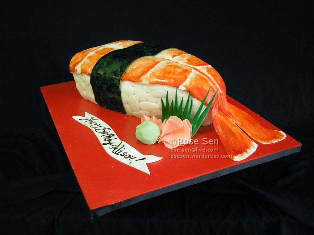 Sushi Cake! | CakeStories.ca