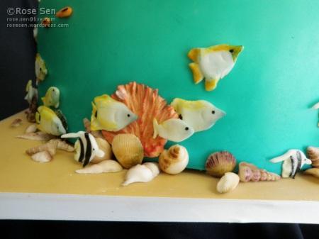 Ocean Snorkellor Coral Reef Cake