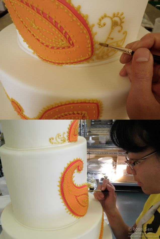 Paisley Henna Wedding Cake