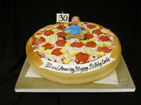 Pineapple Pepperoni Pizza Cake