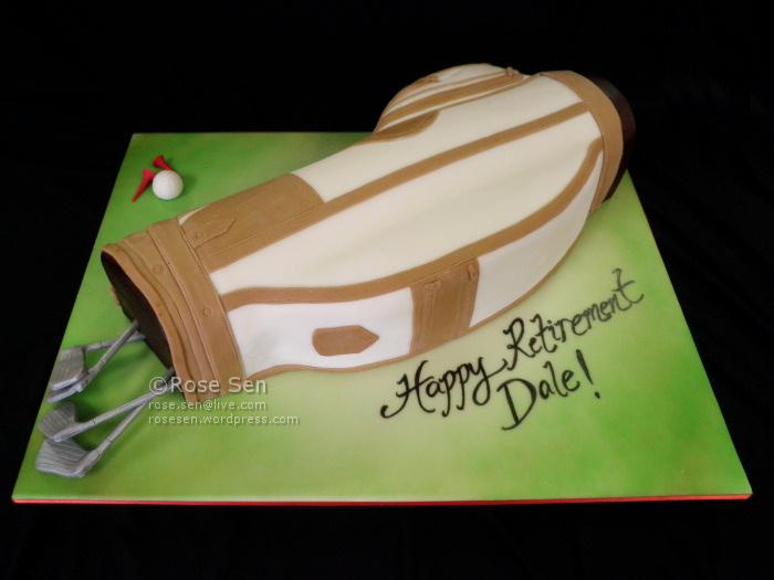 Golf Bag Cake CakeStories.ca