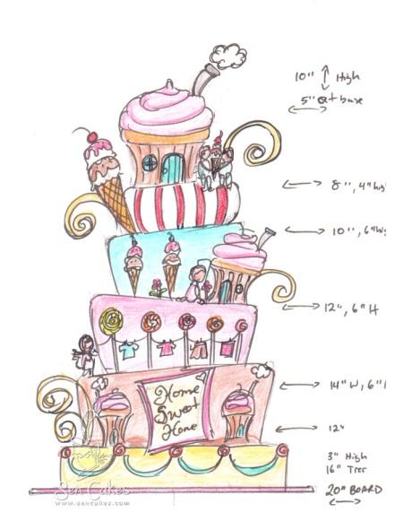 Candyland Cupcake Cake