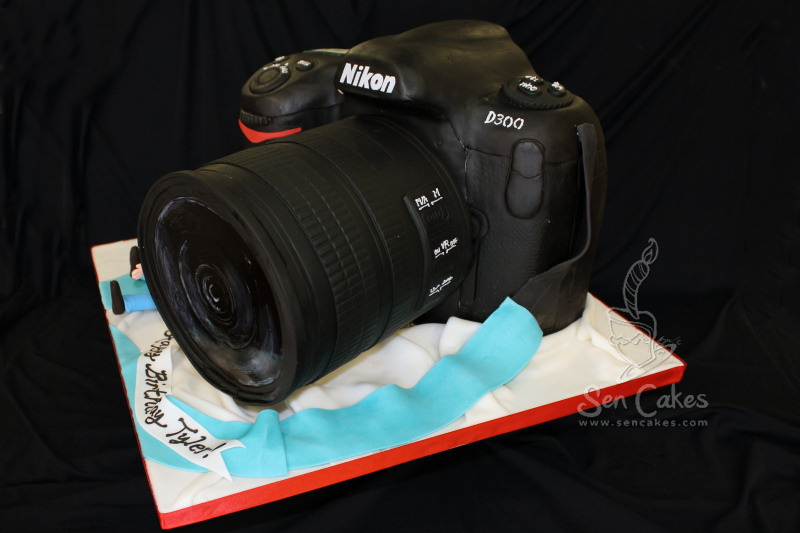 Cool Camera Cake The Nikon D300 Dslr Cakestories Ca Funny Birthday Cards Online Barepcheapnameinfo