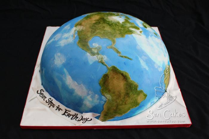 Happy Earth Day Cake CakeStoriesca