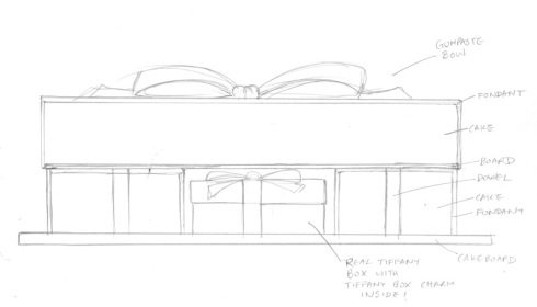 Cake Construction Sketch