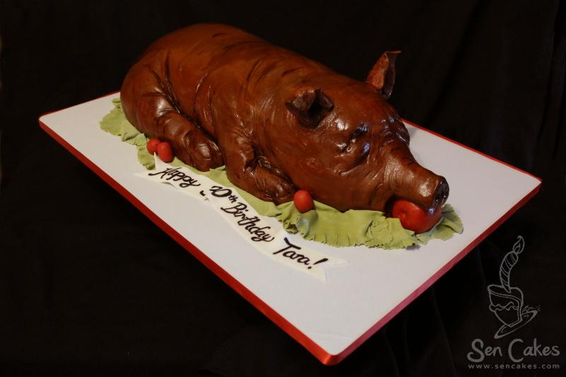 How To Make A Luau Pig Cake