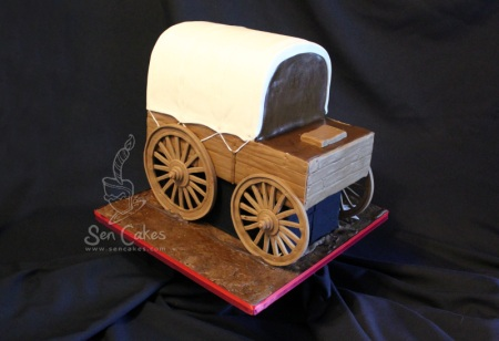 Stampede Chuckwagon Cake