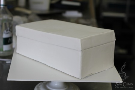 Fondant Shoebox Cake