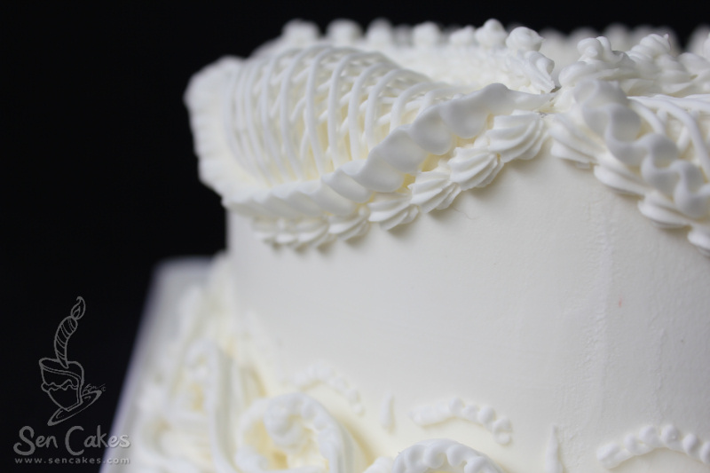 Easy Cake Icing Patterns: Royal Icing Victorian Style Cake