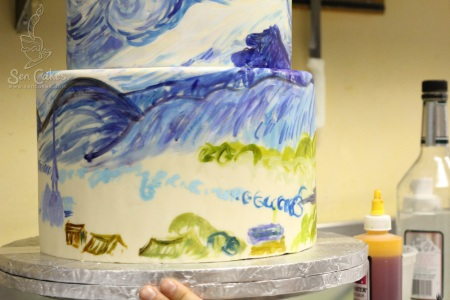 Painting on Cake