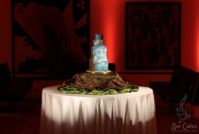 Starry Night Van Gogh Cake