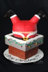 Cake project gallery Santa stuck in chimney cake