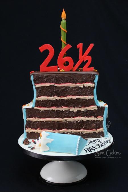 Funky Half Birthday Cake