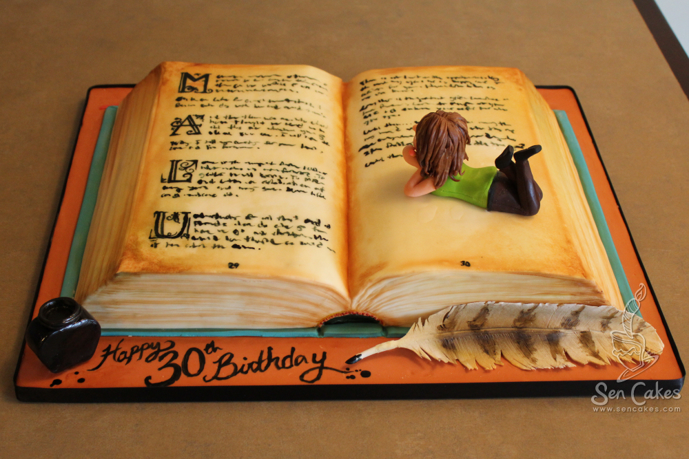 Open Book Cake Images : Cool Cakes CakeStories.ca