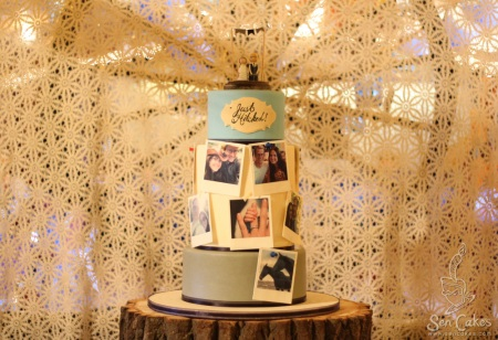 Edible Photo Wedding Cake