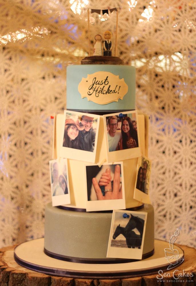 Cake Designs For Photographers : Edible Photograph Wedding Cake CakeStories.ca