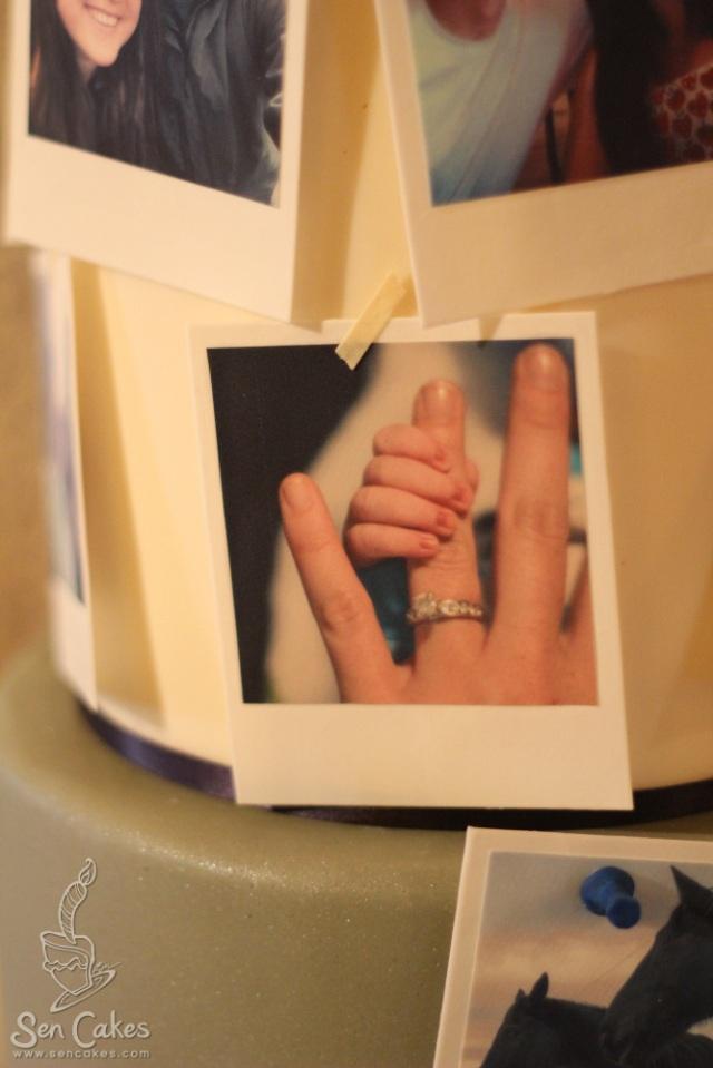 Edible Image Wedding Cake