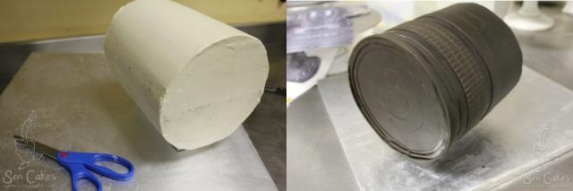 Cylinder Camera Lens Cake
