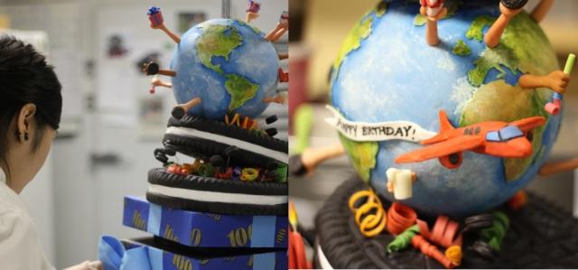 Globe Earth Cake