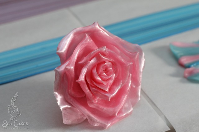 13. Pulled sugar rose